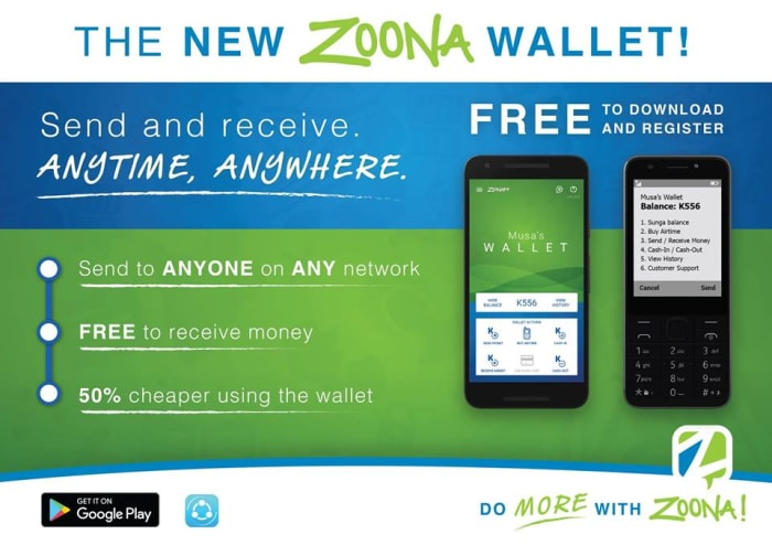 New Zoona Wallet for Android phones
