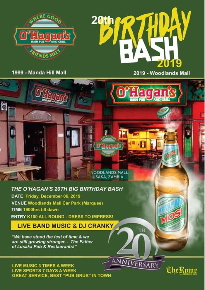 O'Hagan's 20th Birthday Bash