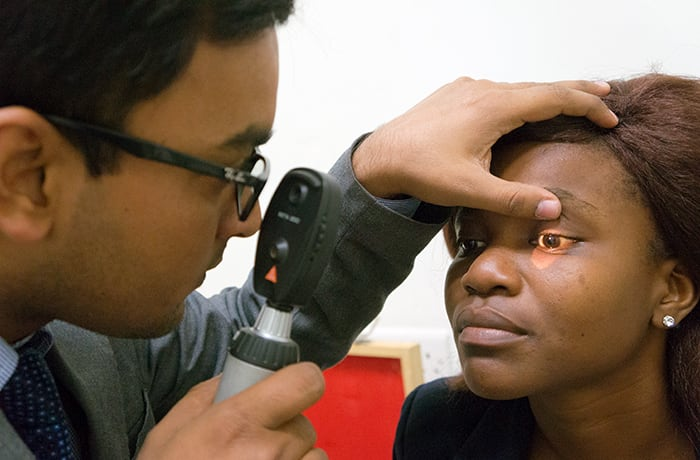 Free eye diagnosis available for corporate members