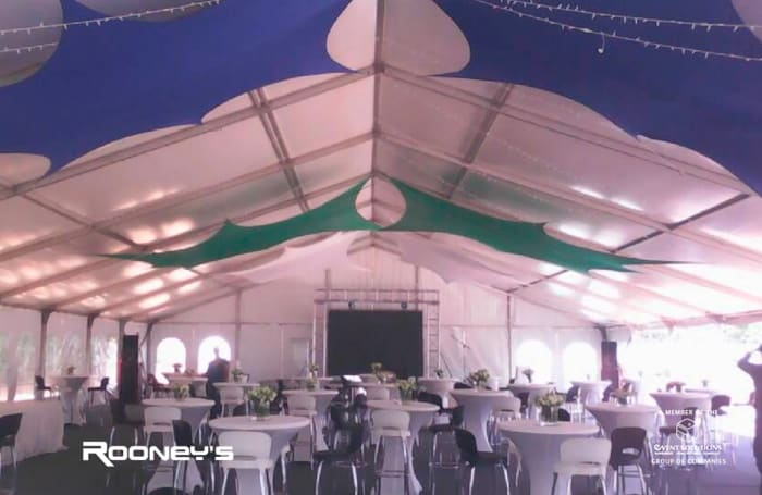 Event equipment supplied for the Standard Chartered Bank
