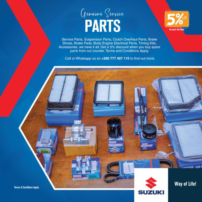 5% discount on genuine service parts