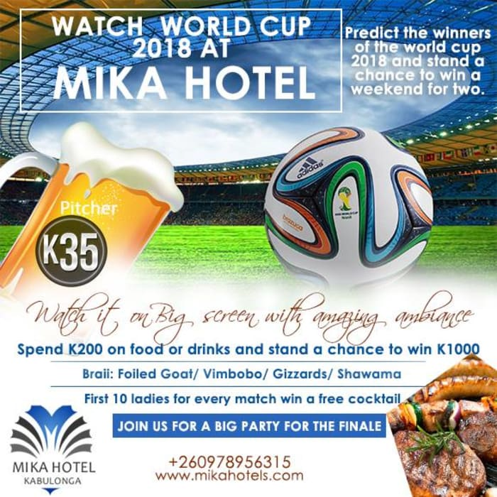 World Cup offers at Mika Hotel