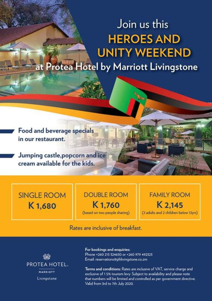 Join Protea Livingstone for Heroes and Unity weekend special