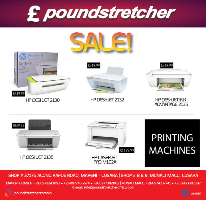 Printing machines on special offer at Poundstretcher