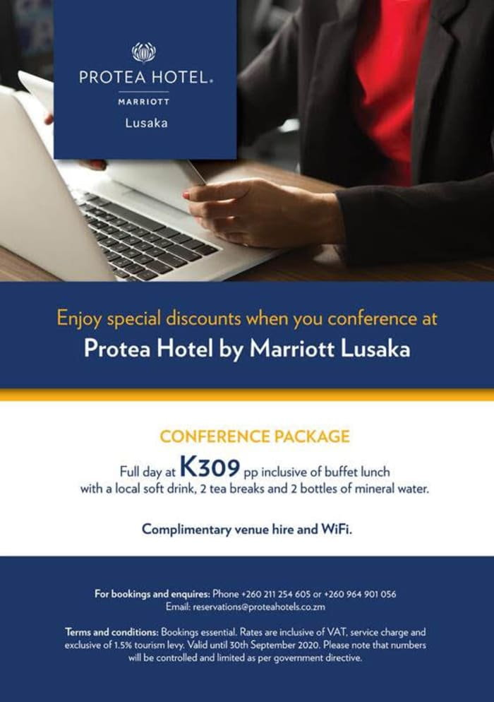 Enjoy special discounts when you conference at Protea Lusaka