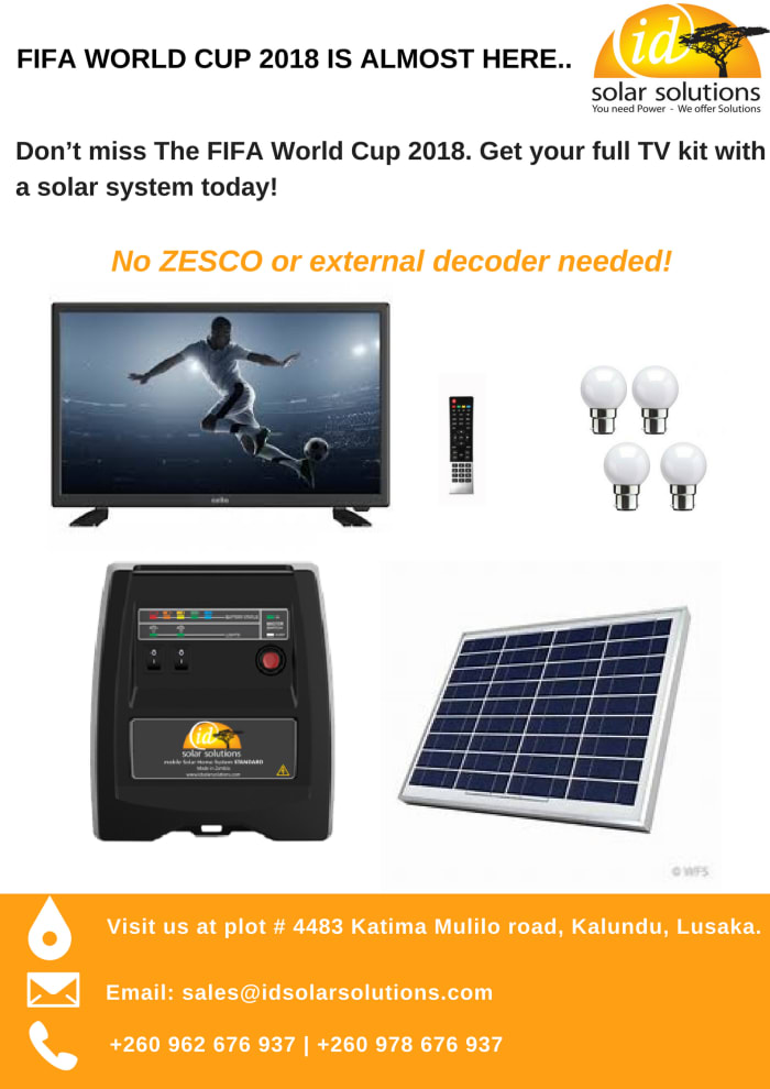 Watch World Cup 2018 with id Solar Solutions System