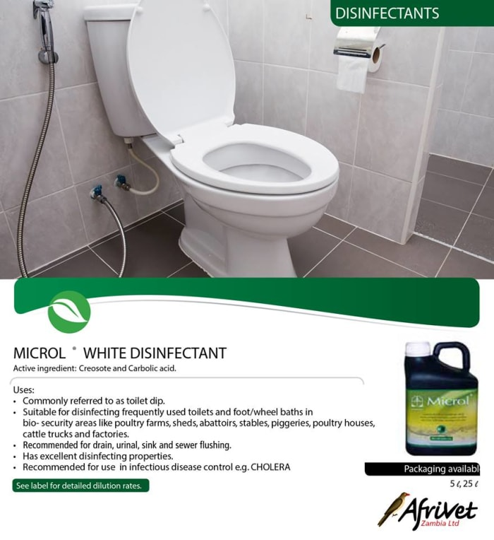 Microl White disinfectant available in stock