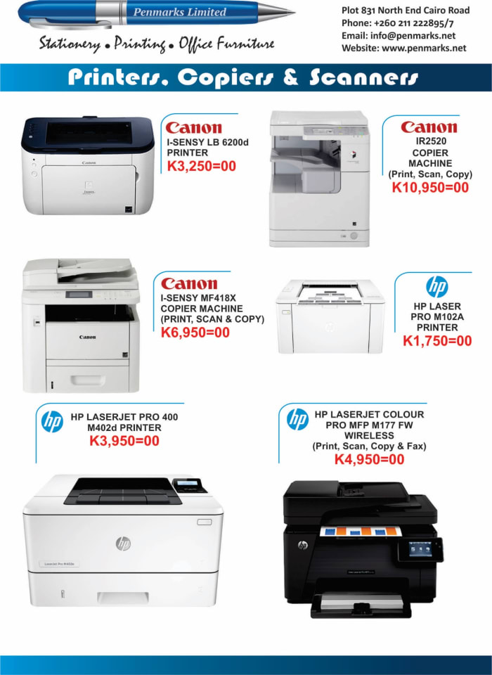 Printers,copiers and scanners available at Penmarks