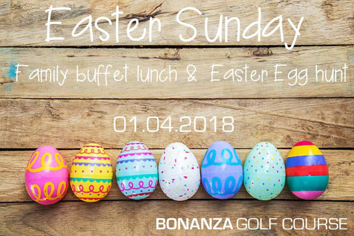 Easter Sunday buffet lunch and egg hunt
