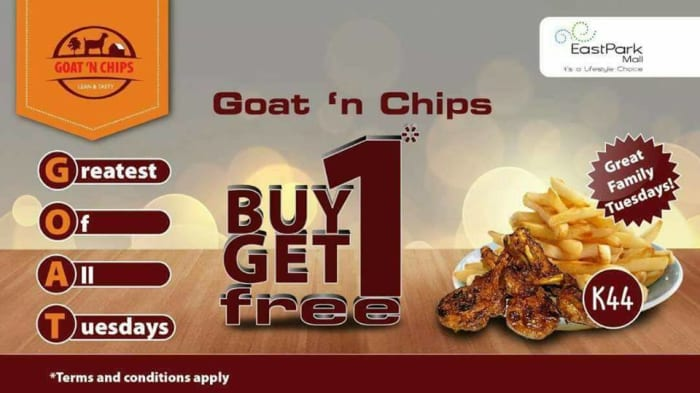 Buy 1 get and get 1 for free only on Tuesdays!