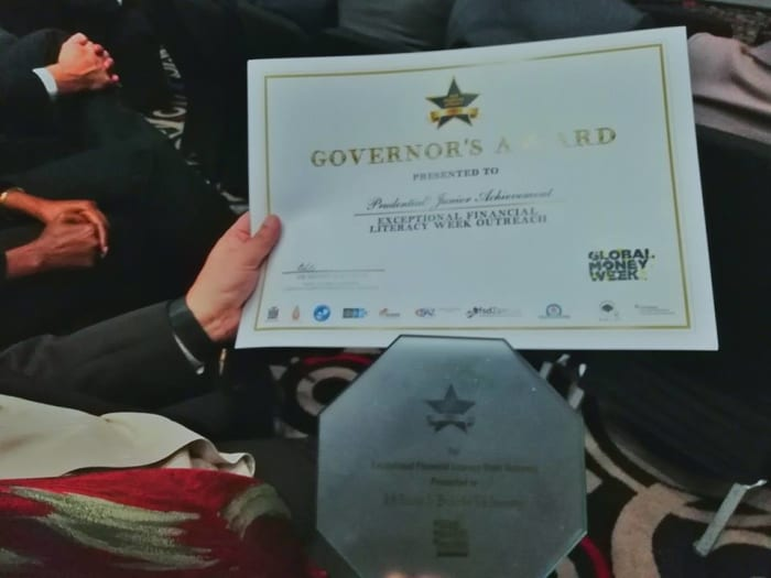 Prudential receives Governor's Award at the 2018 Financial Literacy Awards