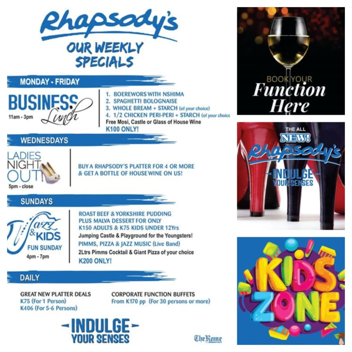 Weekly specials - from corporates to kids