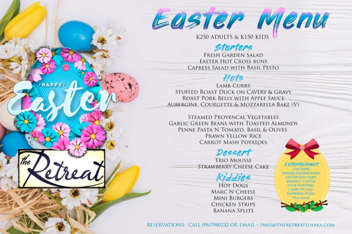 Easter weekend menu and family activities