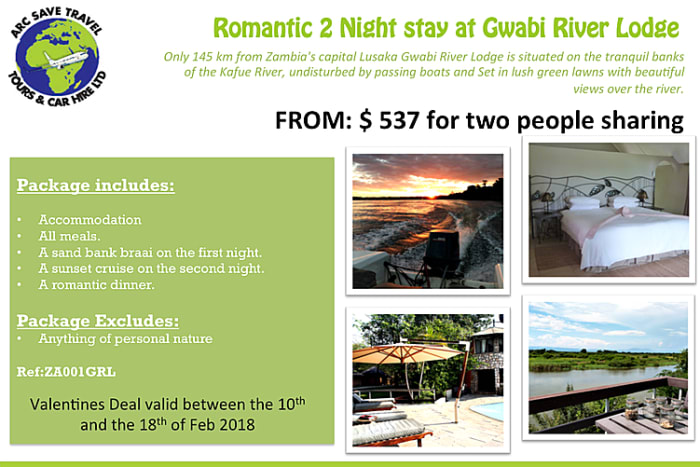 Romantic Kafue River package