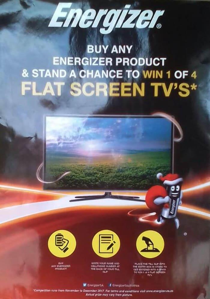 Win 1 of 4 flat screen Tv's