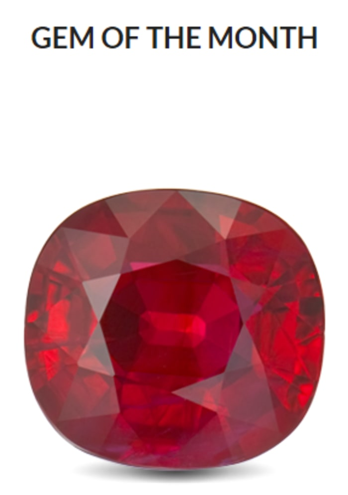 July gem of the month — Ruby