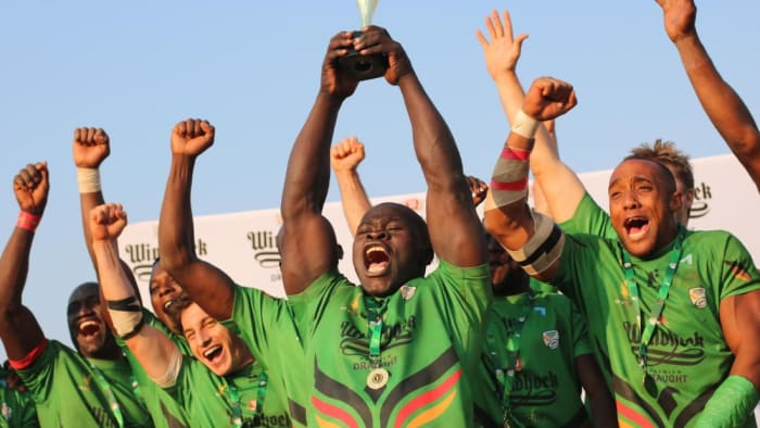 Action Auto sponsors Zambian Rubdgy team at the Commonwealth Games