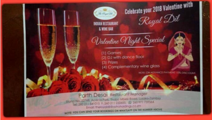 An evening of surprises for Valentine's