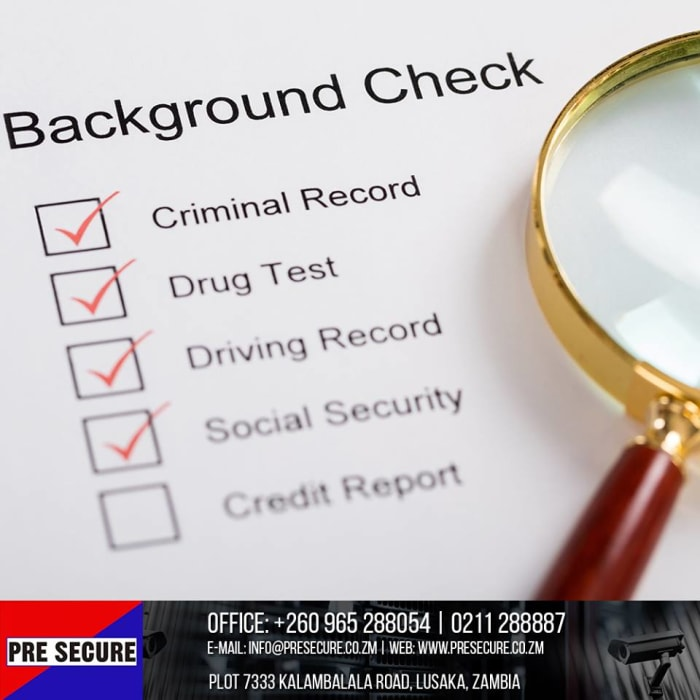 Background checking services available