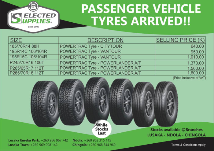 Passenger car tyres now for sale!