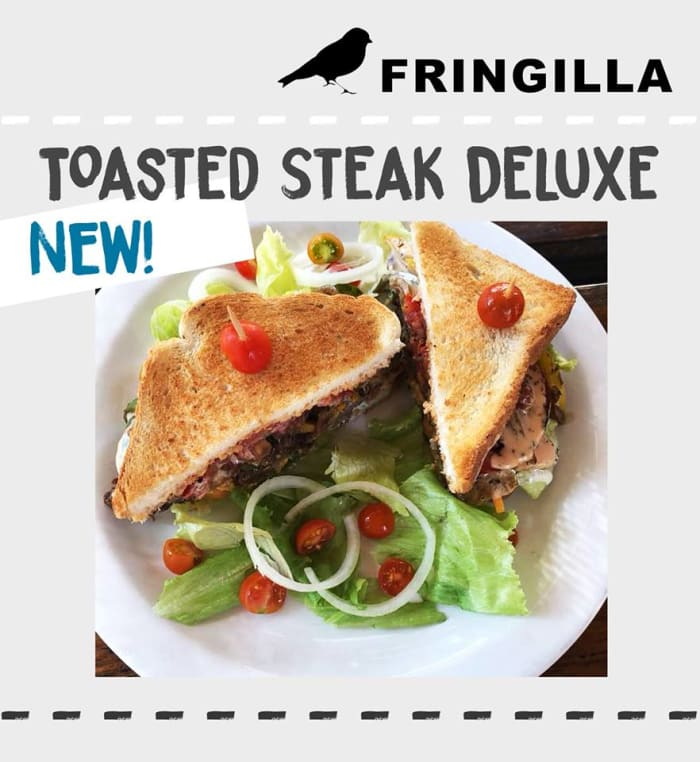 New toasted steak deluxe sandwich