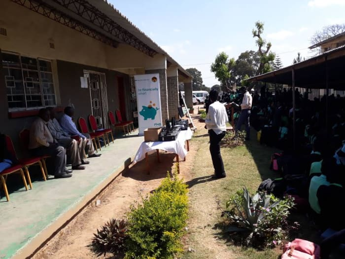 FNB Zambia delivers computers to Milemu Secondary School
