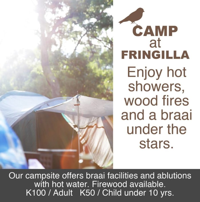 Braai facilities and hot showers in the campsite