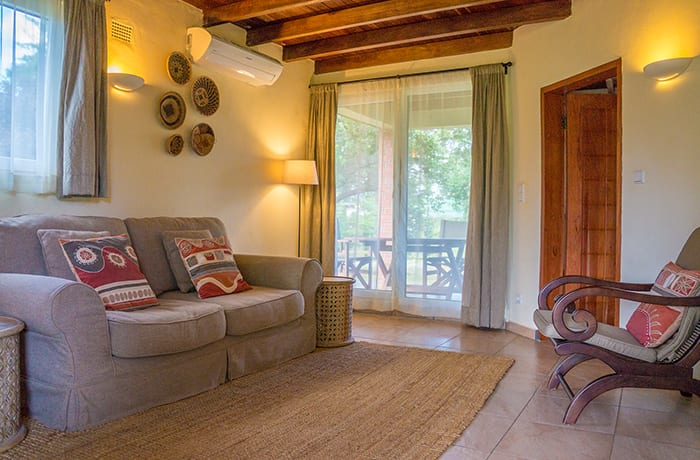 Furnished suite style rooms, with private bedroom and sitting room