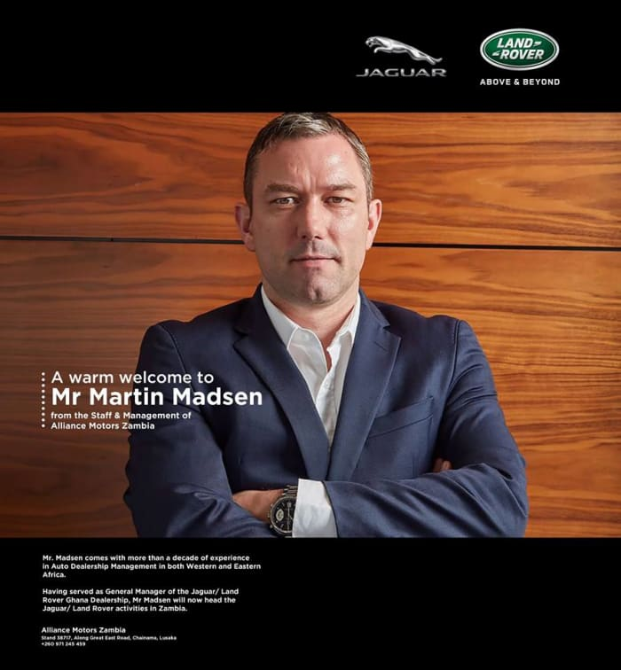 Martin Madsen Alliance Motors Zambia's new general manager