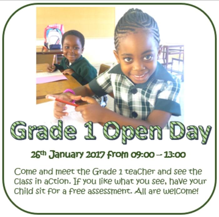 Grade 1 Open Day