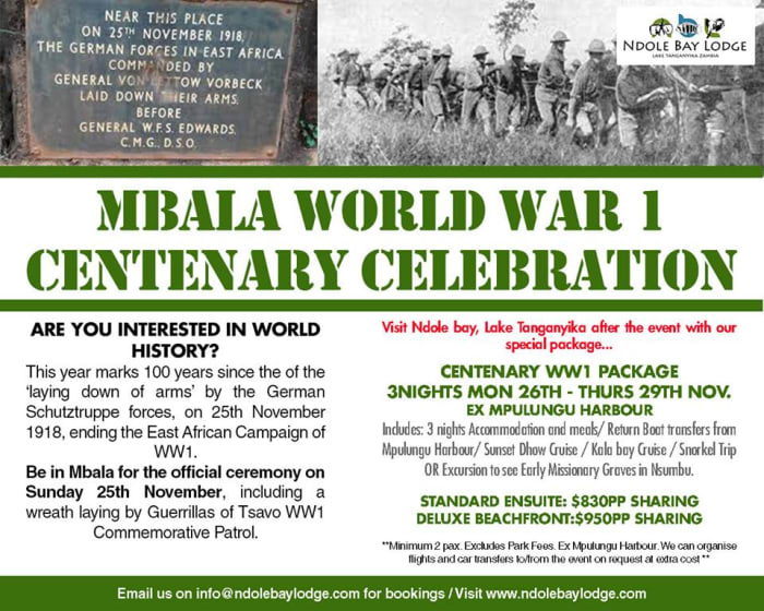 World War I Centenary Celebration Package