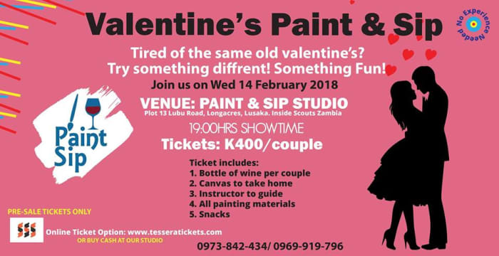 Valentine's Paint & Sip class