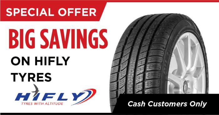 Big savings on Hifly tyres
