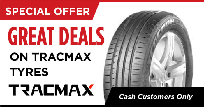 Great deals on Tracmax tyres