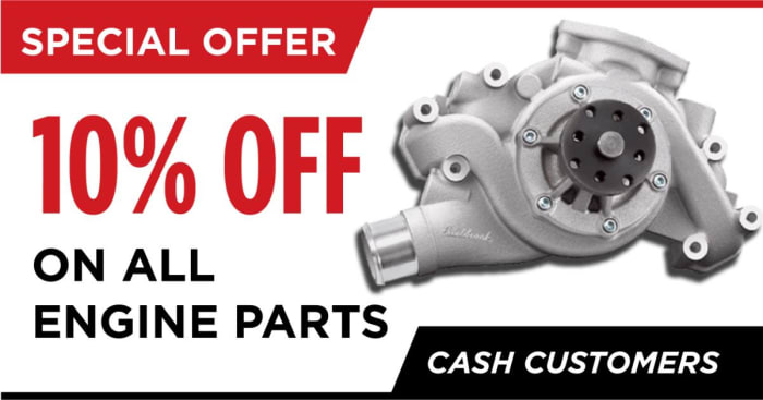 Get 10% off engine parts