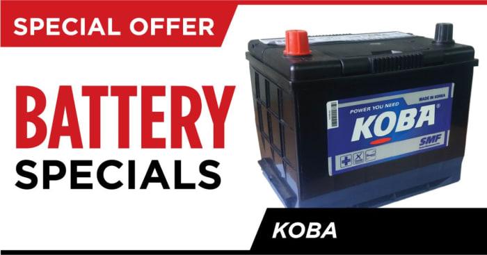 Special offer on Koba batteries