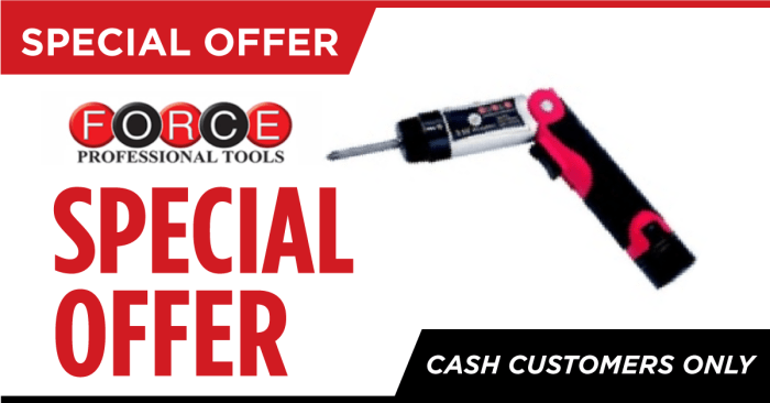 Special offer on Cordless Screwdriver