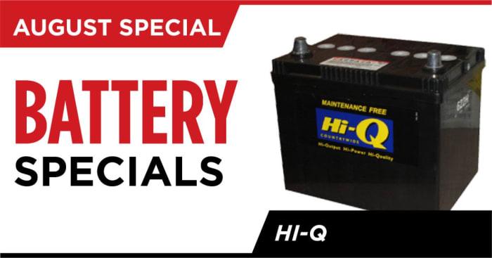Special offer on Hi - Q batteries