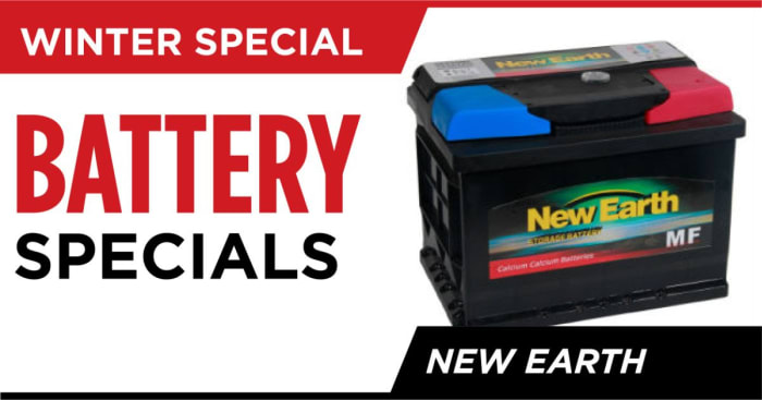 Special offer on New Earth batteries