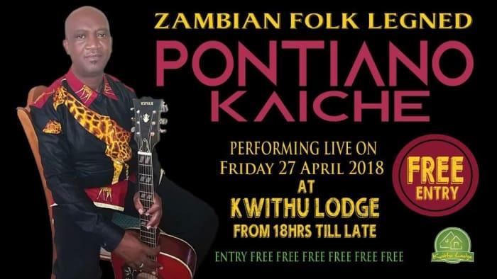 Zambian folk legend Pontiano Kaiche to perform live