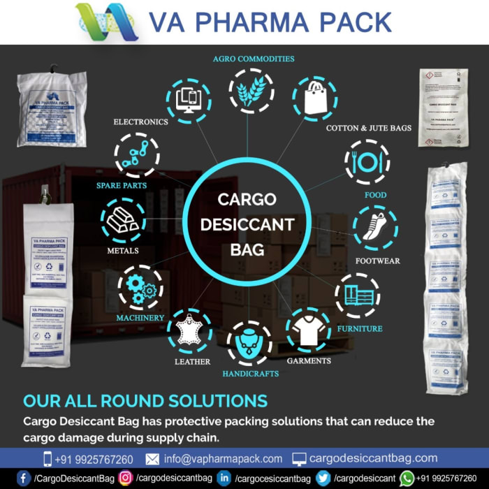 VA PHARMA Pack Cargo Desiccant Bags now available