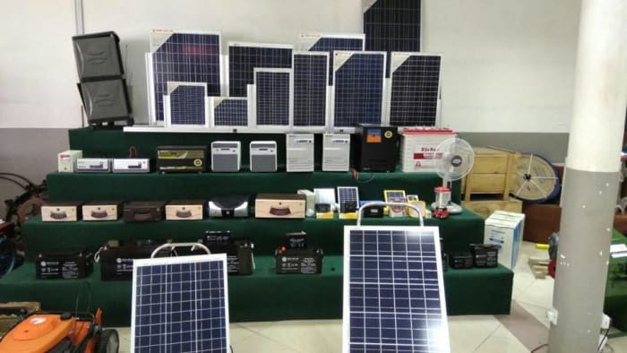 Solar panels available in store