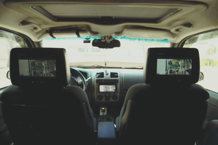DVD and LCD monitor headrest available in stock