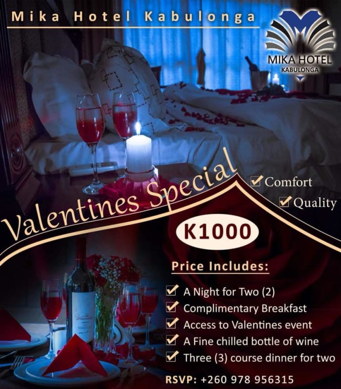 Valentine's overnight hotel offer