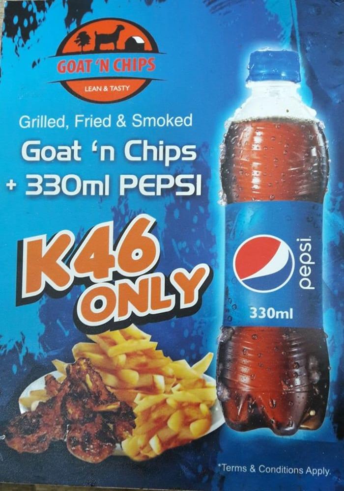 Goat 'n Chips + Pepsi Combo