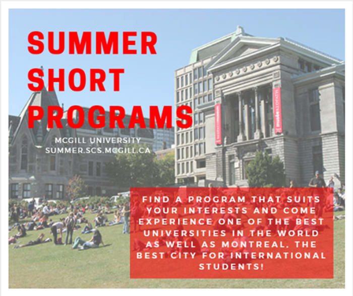 Summer programs at MgGill University in Montreal