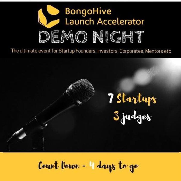 Demo night launch count down at BongoHive