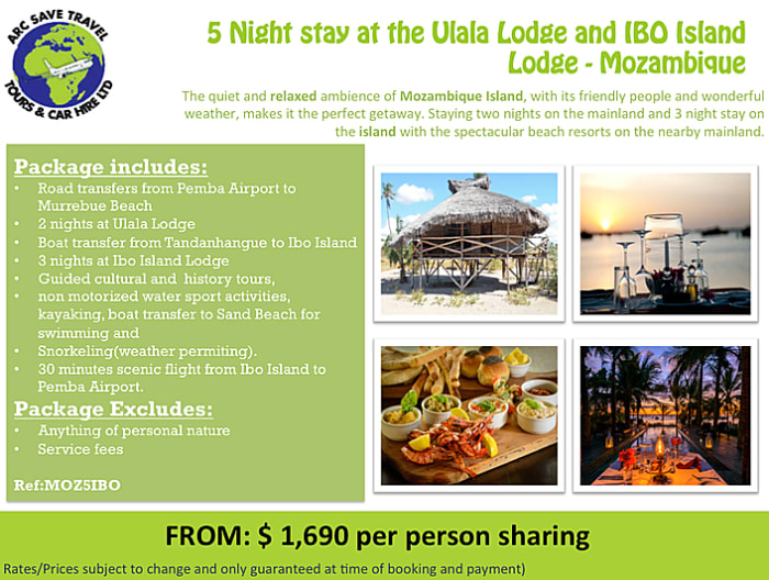 Mozambique Island holiday package