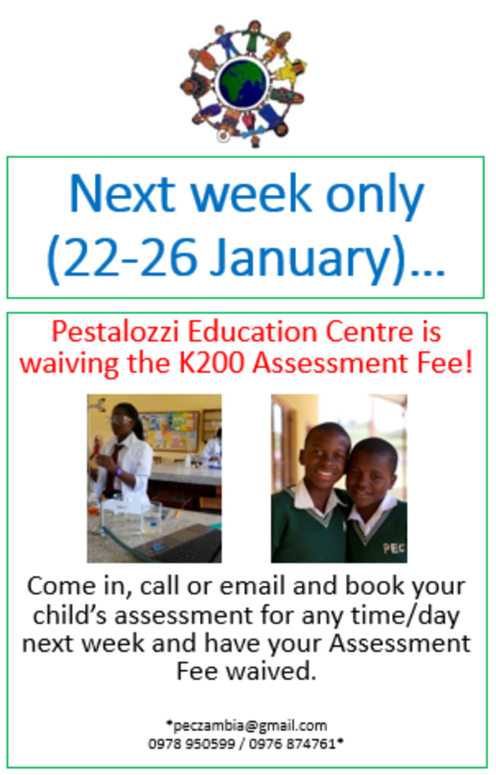 Assessment fees waived for one week