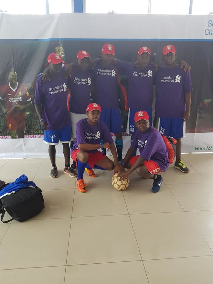 Staff participates in Standard Chartered Bank football tournament